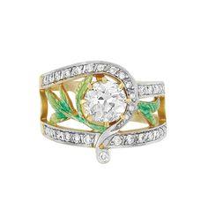 Gold, Diamond and Enamel Ring, Masriera