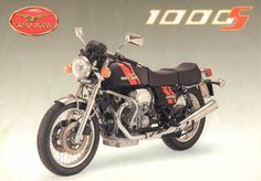 Original Dutch brochure from my collection. One of my favorite Guzzi's. That is to say the early ones. They have the Le Mans 1000 91 HP engine. The later ones had to settle for the SP III engine.
