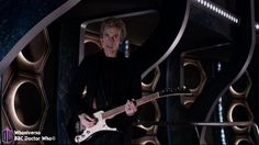 The Article / Peter Capaldi plays electric guitar over Doctor Who opening credits , The Doctor added power chords to the usual theme tune - and, yes, that really was him playing Doctor Who Series 9, Doctor Who 12, Doctor Who Tumblr, I Am The Doctor, Tardis, Doctor Who Season 9, Before The Flood, Doctor Who Companions, Thighs