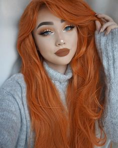 Clementine Dreams – Lush Wigs – Long Light Orange Straight Cosplay Hair Gothic C… Clementine Dreams – Lush Wigs – Long Light Orange Straight Cosplay Hair Gothic Cosplay Lush Wig Fall Hair Colors, Red Hair Color, Orange Hair Colors, Orange Hair Bright, Burnt Orange Hair, Red Orange Nails, Orange Hair Dye, Color Blue, Orange Makeup