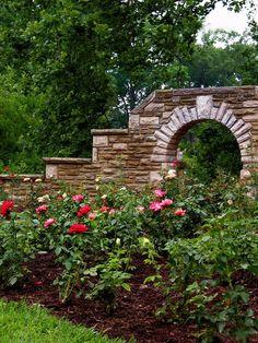 backyard ideas on pinterest stone walls small backyard gardens and