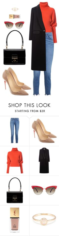 """Street style"" by dalma-m ❤ liked on Polyvore featuring 3x1, Christian Louboutin, Creatures of the Wind, Temperley London, Dolce&Gabbana, Gucci and Yves Saint Laurent"