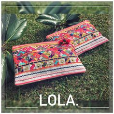 LOLA CLUTCH #baiga #color #rainbow #fluor #bags #clutch #sobre #bolsos #india #hindu #cool #onda #moda #style #stylish #summer #verano #sun #fashion #wow #nice #beauty #pompon #accesorios #yes