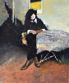 """Black Fish"" - oil on Canvas, 45x50cm, 2015"