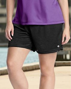 Share us with your friends! Champion Women's Plus Mesh Shorts