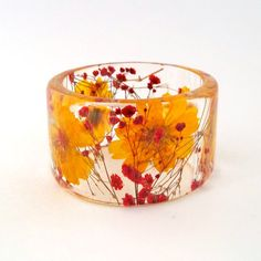 Cosmos and Baby's Breath Botanical Resin by SpottedDogAsheville