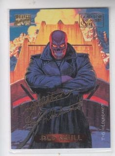 Red Skull Gold Foil Signatuure Series 1994 Marvel Masterpieces #99 *ED -- Check It & More Trading Cards Available for Purchase on www.eCRATER.com