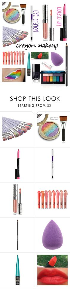 """Crayon/ Rainbow Makeup! 💄💓"" by jules-997 ❤ liked on Polyvore featuring beauty, Marc Jacobs, By Terry, MAC Cosmetics, Smashbox, makeup, rainbow, crayon, polyversary and crayonmakeup"