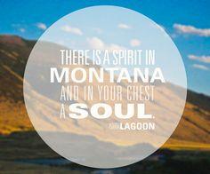Spirit in #Montana  Art Print #lyrics