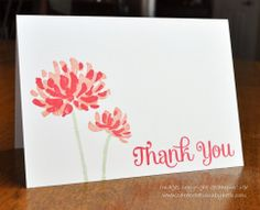 Thank You Notes Card Creations by Beth