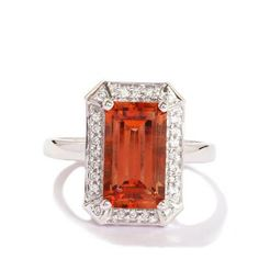 Lehrite & Diamond 18k White Gold Tomas Rae Ring MTGW 3.32cts