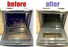 Effortless oven cleaner!  It works with burner covers also http://www.onegoodthingbyjillee.com/2012/01/cleaning-those-nasty-stove-burner-pans.html  IT REALLY WORKS