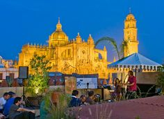 Amazing view of Jerez´s  Cathedral from the roof terrace @ Hammam Andalusí Baños Arabes.