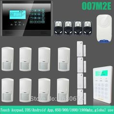 Home Security Alarm System Home Security Alarm System, App Control, Cool Things To Buy, Stuff To Buy, Android Apps, Phone, Ios App, Touch, Free Shipping
