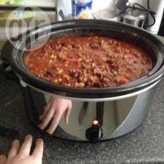 Recipe photo: Slow cooker chilli con carne