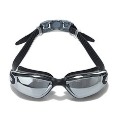 48212fd270 Adult Swim Goggles Mirrored Anti Fog Uv Protection Waterproof with Free  Case and Ear Plugs for