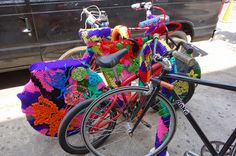 Yarn art by Olek/Brooklyn/Summer2013