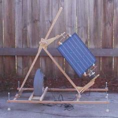 How To Make A Portable Sun Tracking Solar Panel With A Windup Clock Drive.