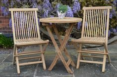 Teak Round Foldable Bistro Set. We have a wide range of teak garden furniture including small bistro sets, deluxe dining sets, arm chairs and benches. All of our teak products are Grade A which is of the highest quality and can be recognised by its golden brown colour. For more information about the different grades of teak furniture please see – http://www.farawayfurniture.com/a-b-and-c-teak-grades-explained.html