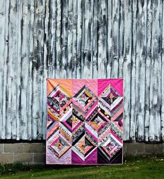 Rock 'n Romance String Diamond Quilt // Maureen Cracknell Handmade