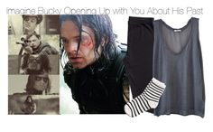 """""""Imagine Bucky Opening Up with You About His Past"""" by fandomimagineshere ❤ liked on Polyvore featuring Sebastian Professional, H&M, American Vintage, Pieces and kitchen"""