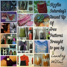 Sizzlin Saturday's Round up of Free Patterns