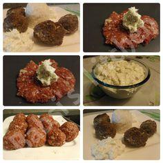 HACKBÄLLCHEN MIT FRISCHKÄSE - TZATZIKIFÜLLUNG Rezept: http://babsiskitchen-foodblog.blogspot.de/2015/11/hackballchen-mit-frischkase.html