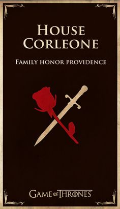 Game of Thrones inspired house sigils for pop culture characters- The Godfather