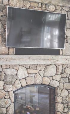 Mounted on fireplace