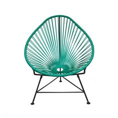 Innit Designs Acapulco Chair - Turquoise Black ($429) ❤ liked on Polyvore featuring home, outdoors, patio furniture, outdoor chairs, indoor outdoor furniture, black outdoor chairs, innit, black patio furniture and waterproof patio furniture