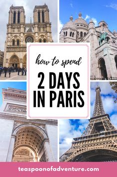 If your time in the City of Lights is limited, you can still make the most of it. Here's your perfect itinerary for 2 days in Paris! #paris #travel Paris Travel, France Travel, Travel Europe, Travelling Europe, France Eiffel Tower, Eiffel Towers, European City Breaks, Paris Itinerary, Travel Rewards