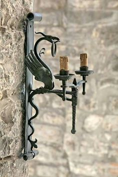 Wrought Iron Dragon candle holder - #blacksmithartist