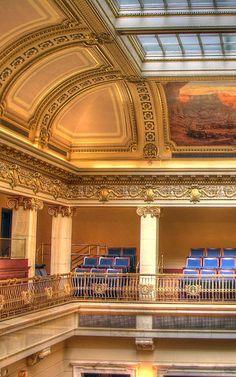 Senate Chamber balcony.  Utah State Capitol..