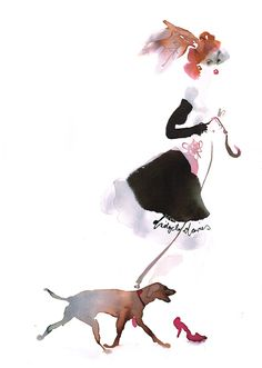 Bridget Davies  - Walking the Dogs - Late for the Date! -