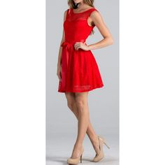 Point Of Perfection Illusion Red Lace Tulle Dress. Full of Style & Perfection, This Dress Is Guaranteed To Please No Matter What Event You Wear It To!   Shop the dress: https://ledyzfashions.com/collections/all-dresses/products/point-of-perfection-red-lace-tulle-dress