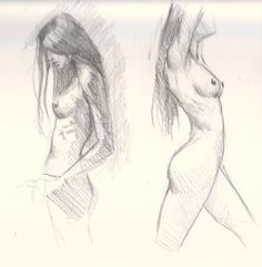 Body female naked study woman