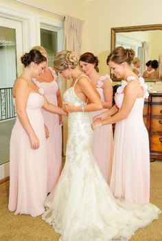 pink bridesmaid dresses for beach wedding in Destin Florida