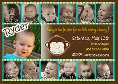 Mod Monkey Invitation Mod Monkey invite Photo by JRCreativeDesigns, $15.99