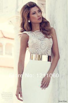 Aliexpress.com : Buy Evening Dress 2014 Sheath Knee length Long Sleeve Prom Dress Elegant Short White Lace Formal Evening Dresses robe de soiree from Reliable dress stock suppliers on BestDressProvider   Alibaba Group