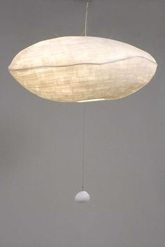 "Celine Wright Giboulée Lamp, made with Japanese ""Shoji"" paper From Platane Deco Luminaire, Luminaire Design, Cool Lighting, Lighting Design, Park Lighting, Pendant Lamp, Pendant Lighting, Industrial Lighting, Chandelier"