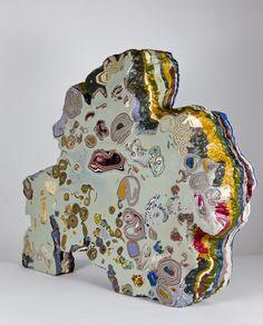 Arch Rock , pigmented beeswax, 23 x 20 x 5 inches (sold) Art Sculpture, Abstract Sculpture, Modern Art, Contemporary Art, Encaustic Painting, Moriarty, Land Art, Rock Art, Ceramic Art