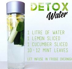 The ultimate secret remedy for and glowing skin - natural detox water made of lemon, cucumber and mint leaves. Detox Drinks, Healthy Drinks, Get Healthy, Healthy Water, Healthy Detox, Healthy Life, Healthy Weight, Healthy Snacks, Healthy Living