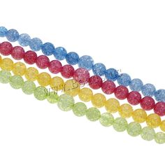 Crackle Quartz Beads, Glass, Round, graduated beads, more colors for choice Semi Precious Beads, Lampwork Beads, Wholesale Jewelry, Gemstone Beads, Beaded Jewelry, Glass Beads, Quartz, Gemstones, Pearls