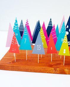 DIY Forest Advent Calendar - Free download at rachaelmclean.com