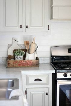Charming How To Update Your Old Counter Tops For Under $100 | The Tale Of An Ugly Images