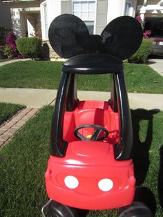 Mickey Mouse Car Cozy Coupe Kit Vinyl Sticker and by LoveAlyBug