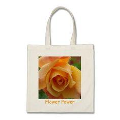 Remember Me Rose Flower Power Tote Bag from Flower Garden Magic. $15.95