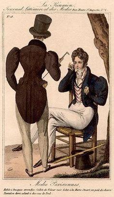 Regency fashion plate 1827.