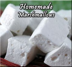 Homemade Marshmallows Recipe from Grandmother's Kitchen