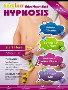 ♥ Virtual Gastric Band Hypnosis Therapy, as seen on CNN, Daily Mail, BBC, Chat Magazine, Vogue and Marie Claire. The American, British and now Australian weight loss phenomenon - now in an app!     ♥ No 1 Health and Fitness iPad app in the UK.   ♥ No 1 Health and Fitness iPad app in the Ireland.
